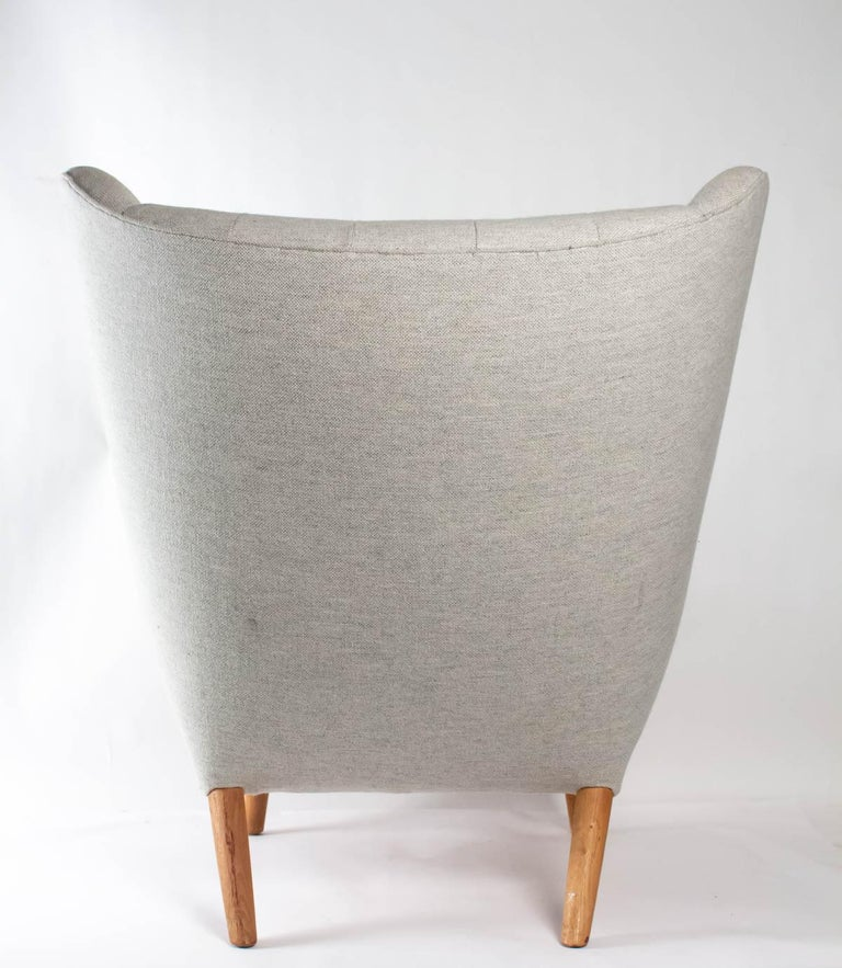 Iconic Papa Bear Armchair with Matching Ottoman, Denmark, Hans Wegner, 1960s For Sale 8