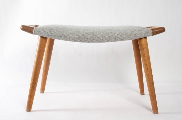 Iconic Papa Bear Armchair with Matching Ottoman, Denmark, Hans Wegner, 1960s For Sale 9