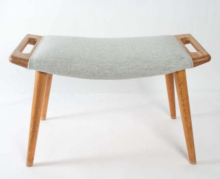 Iconic Papa Bear Armchair with Matching Ottoman, Denmark, Hans Wegner, 1960s For Sale 10