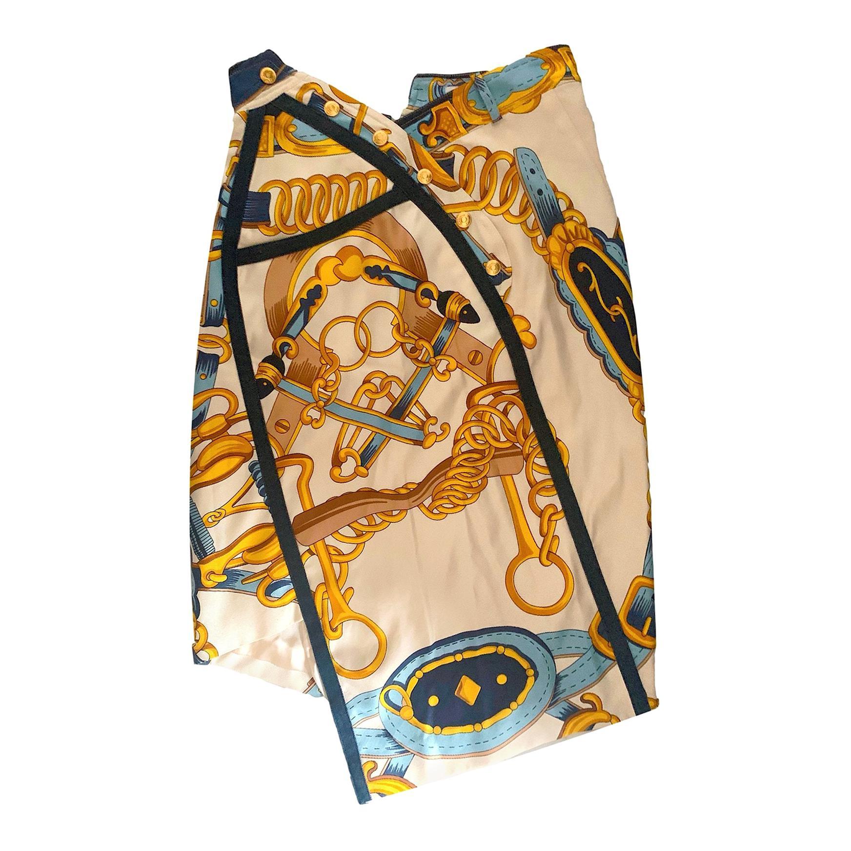 Iconic S/S 2000 John Galliano for Christian Dior Saddle Print Skirt
