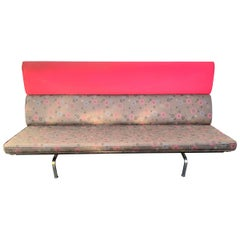 Iconic Signed Charles and Ray Eames Compact Sofa by Herman Miller Midcentury
