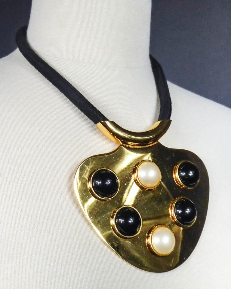 Women's Iconic Space Age Necklace by Lanvin Circa 1970 For Sale