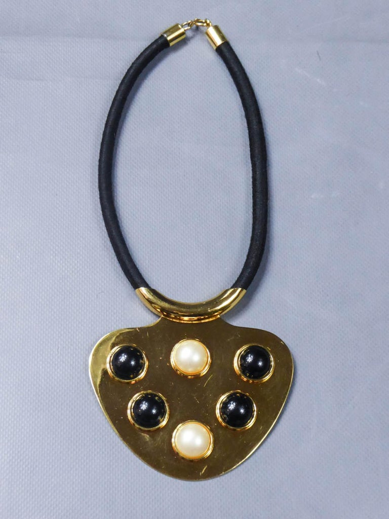 Iconic Space Age Necklace by Lanvin Circa 1970 For Sale 2