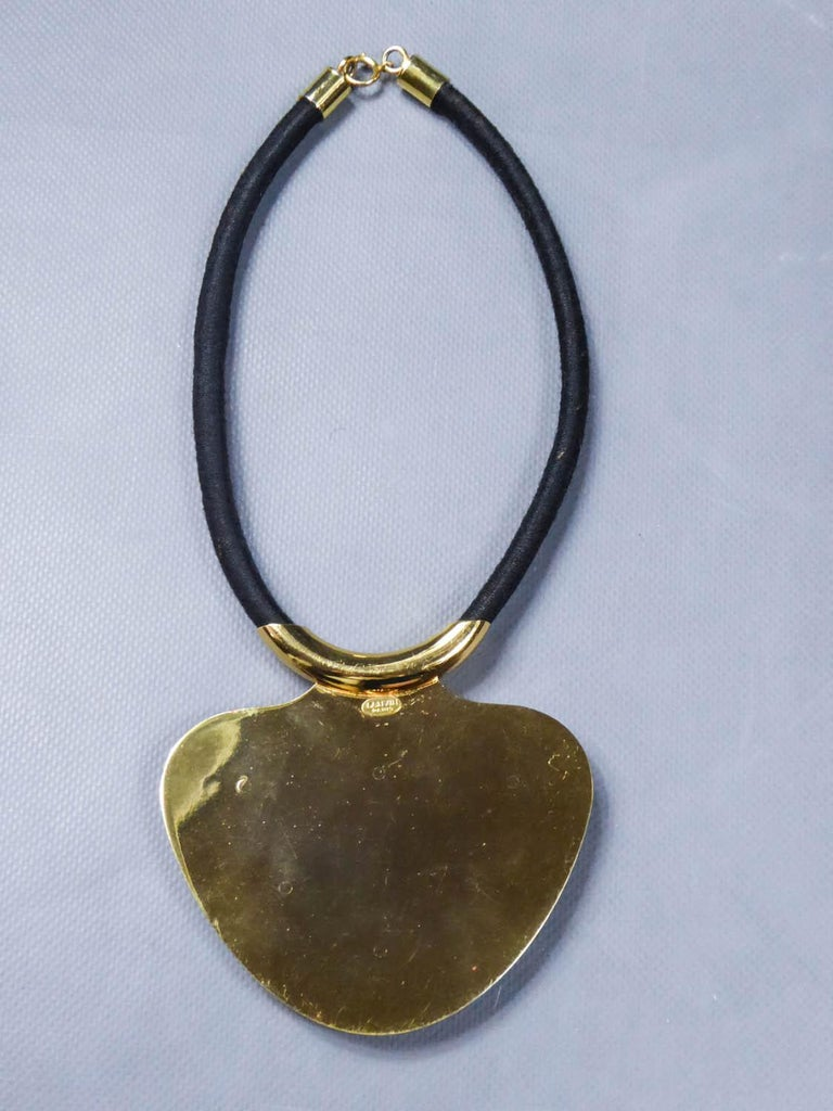 Iconic Space Age Necklace by Lanvin Circa 1970 For Sale 5