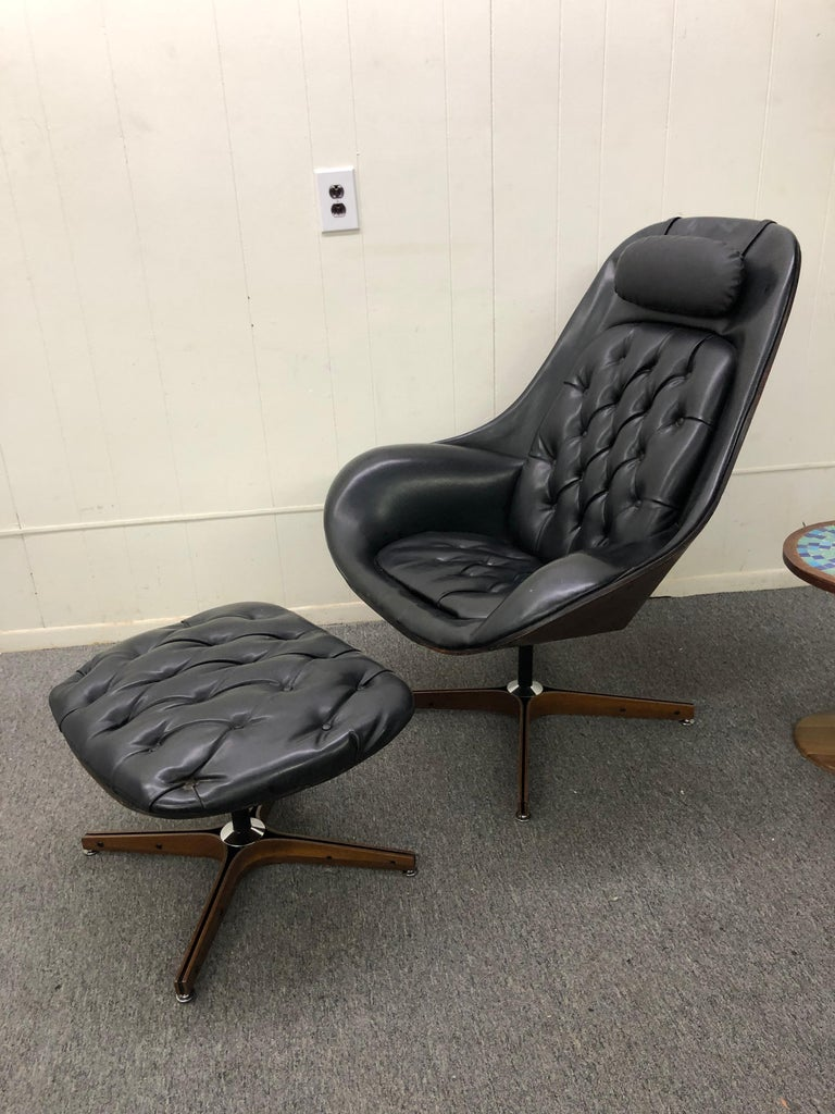 Iconic Space Age Version Mr. Chair and Ottoman by George Mulhauser for Plycraft For Sale 9