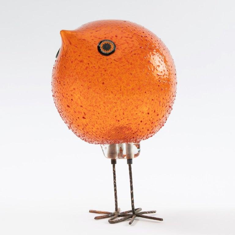 Pulcino Glass bird, Alessandro Pianon, Vetreria Vistosi Murano  In Good Condition For Sale In Brussels, BE