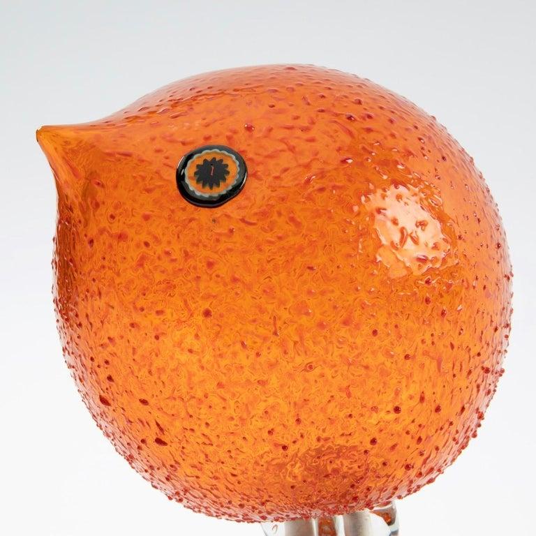 Art Glass Pulcino Glass bird, Alessandro Pianon, Vetreria Vistosi Murano  For Sale