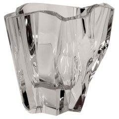 Iconic Tapio Wirkkala Iceberg Vase Littala Finnish Modern Midcentury Crystal