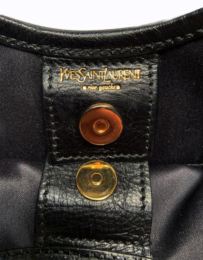 Iconic Tom Ford for Yves Saint Laurent Mombasa Black Embellished Leather Bag For Sale 6