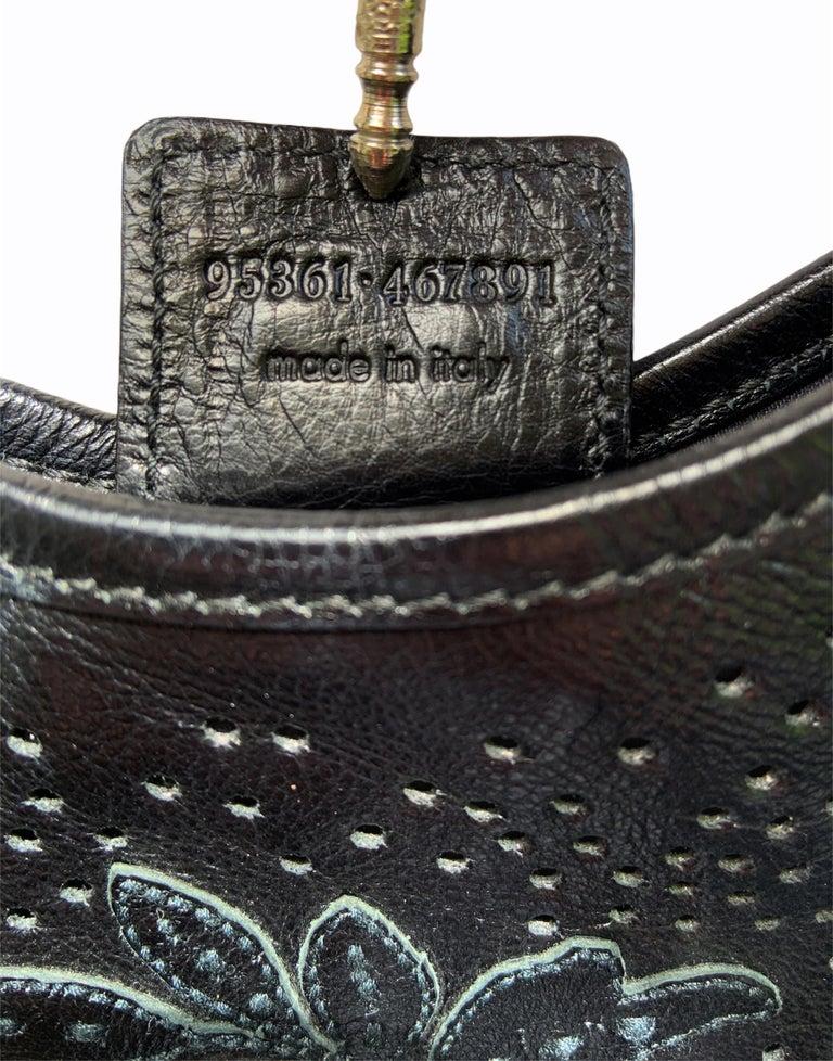 Iconic Tom Ford for Yves Saint Laurent Mombasa Black Embellished Leather Bag For Sale 7