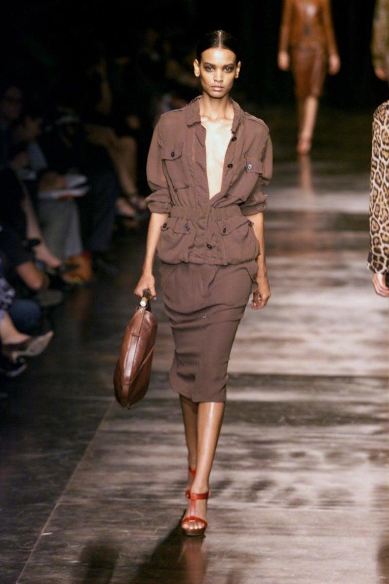 Iconic Tom Ford for Yves Saint Laurent Mombasa Black Embellished Leather Bag For Sale 8