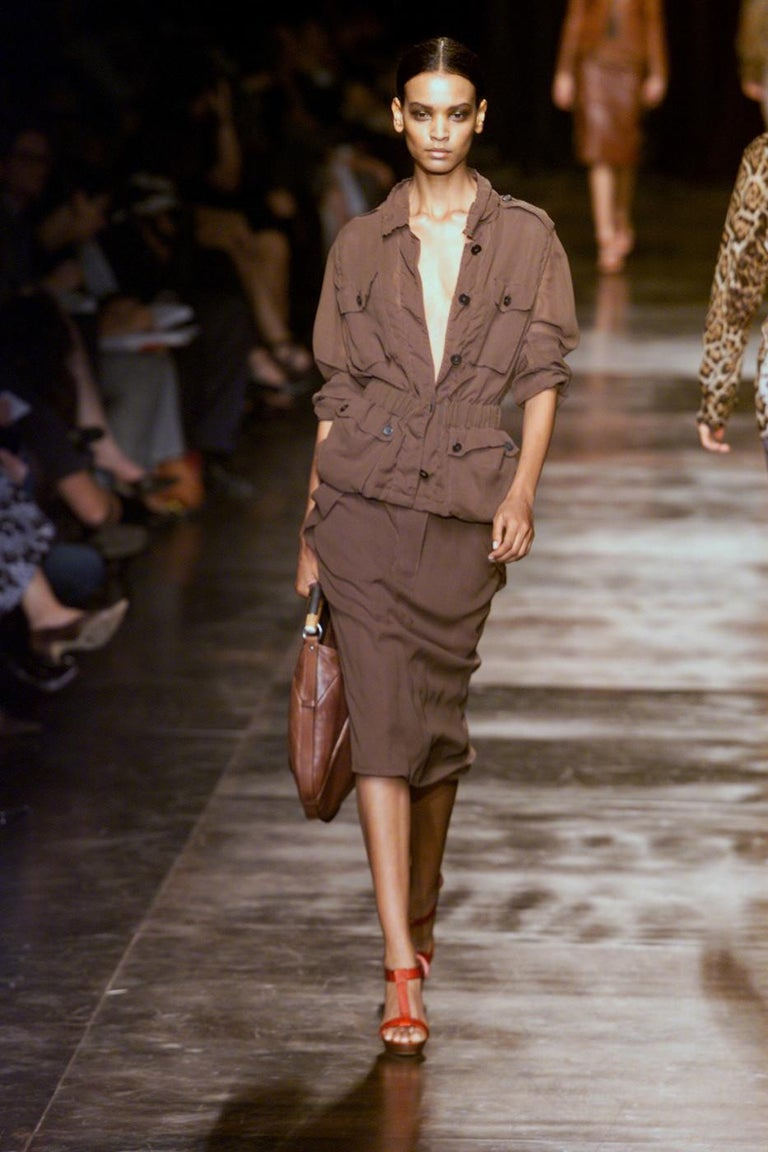 Iconic Tom Ford for Yves Saint Laurent Mombasa Black Embellished Leather Bag For Sale 9