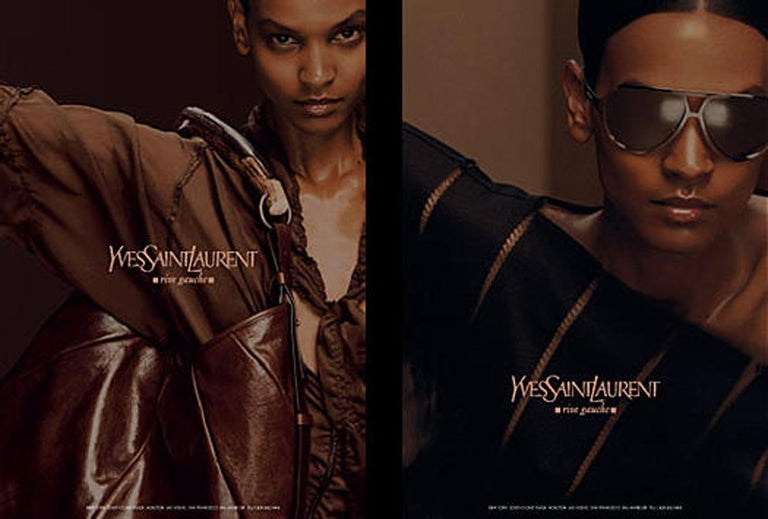 Iconic Tom Ford for Yves Saint Laurent Mombasa Black Embellished Leather Bag For Sale 10