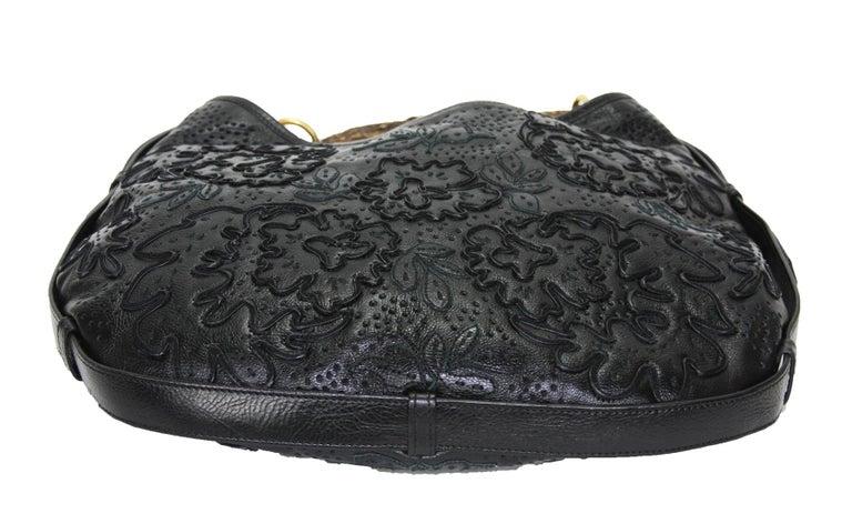 Iconic Tom Ford for Yves Saint Laurent Mombasa Black Embellished Leather Bag For Sale 5