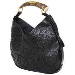 Iconic Tom Ford for Yves Saint Laurent Mombasa Black Embellished Leather Bag