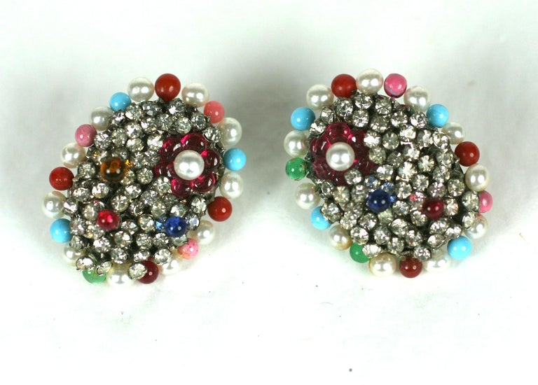 Iconic Valentino Earrings by Maison Gripoix  In Excellent Condition For Sale In Riverdale, NY