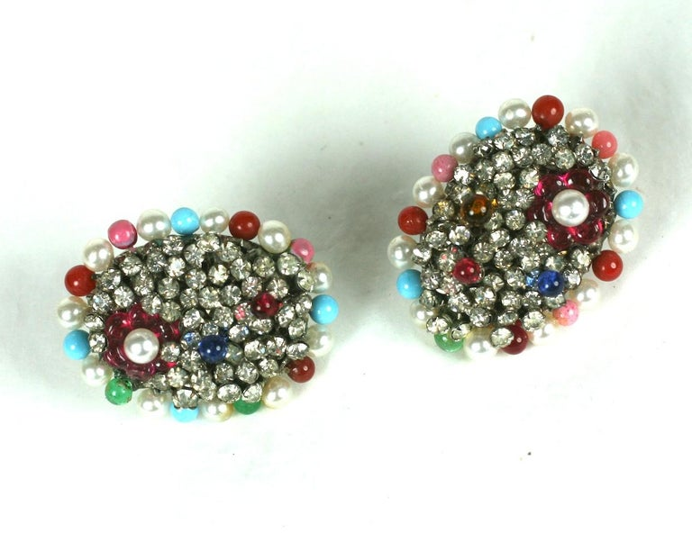 Iconic Valentino Earrings by Maison Gripoix  For Sale 1