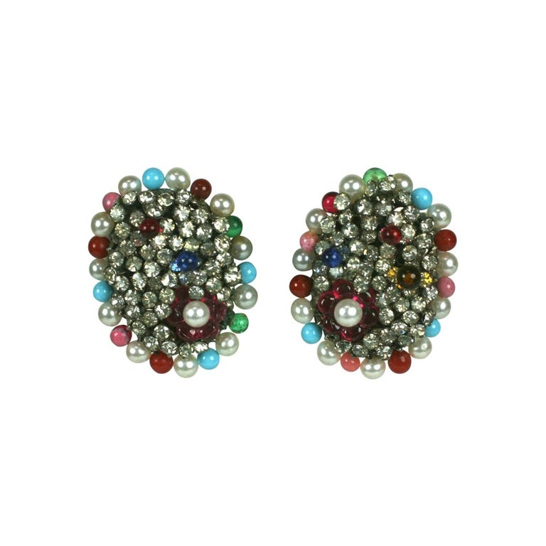 Iconic Valentino Earrings by Maison Gripoix  For Sale