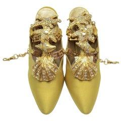 Iconic Vintage 1992 Gianni Versace Embellished Shoes