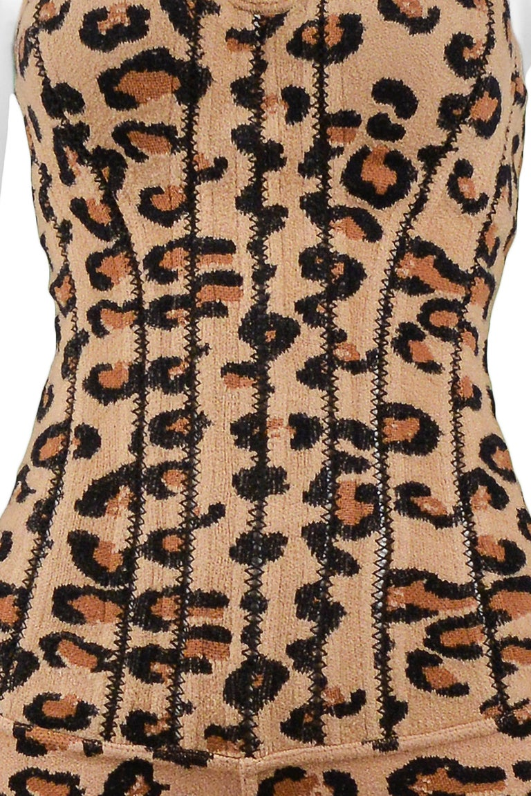 Iconic Vintage Azzedine Alaia Leopard Bodysuit   1991 Runway Collection  In Excellent Condition In Los Angeles, CA