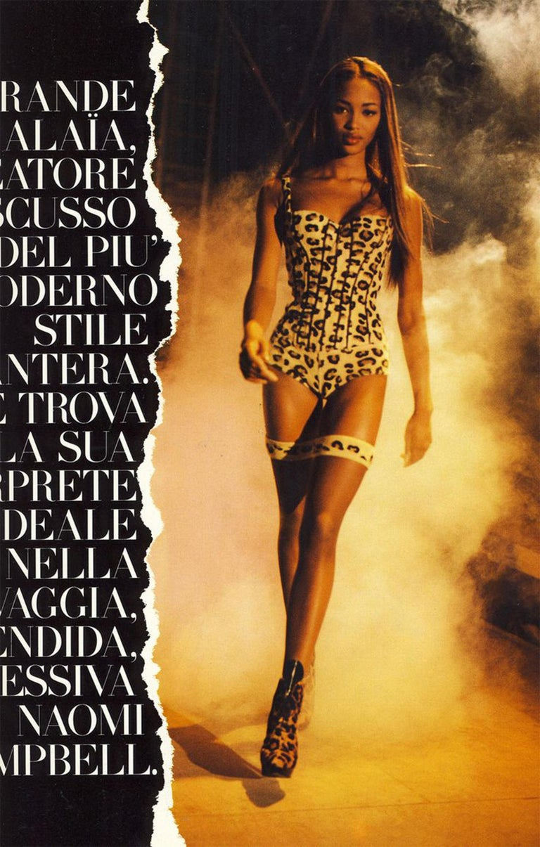 Iconic Vintage Azzedine Alaia Leopard Bodysuit   1991 Runway Collection  3