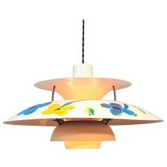 Iconic Vintage PH5 Chandelier for L. Poulsen of DK in Satin Black with Art Work
