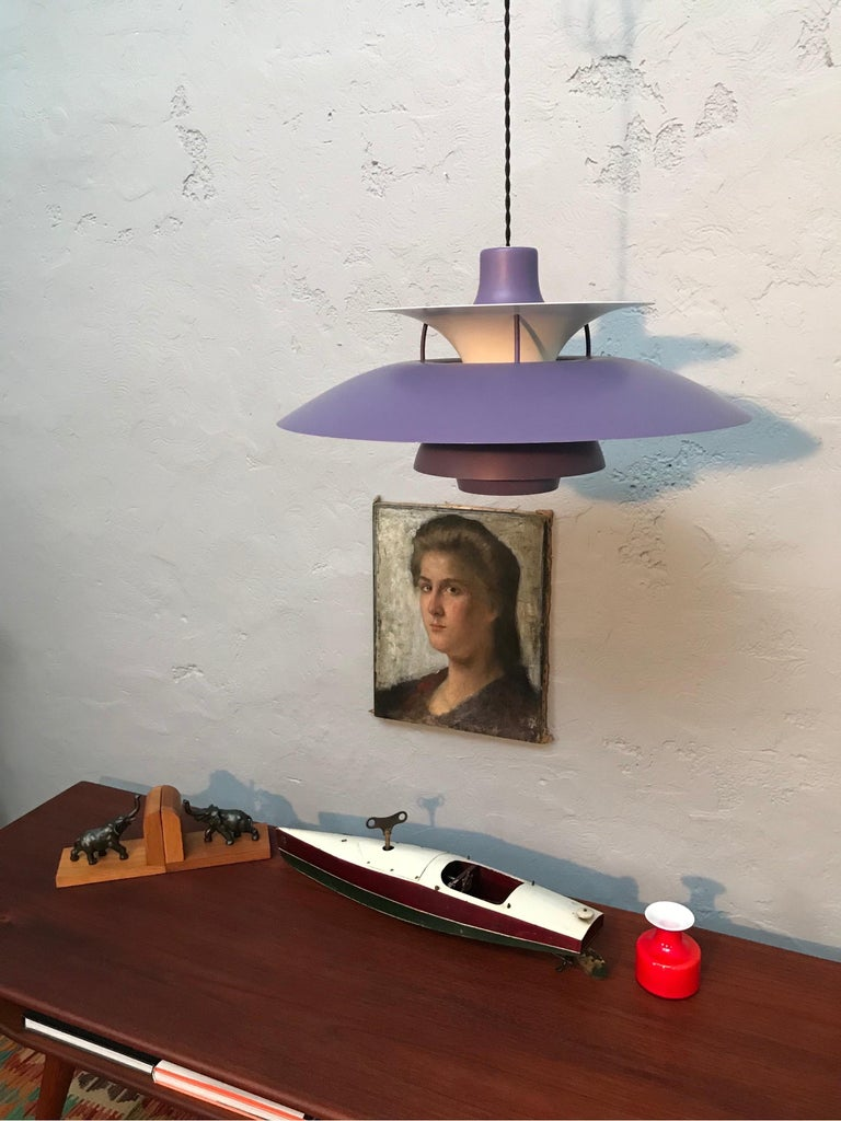 Danish Iconic Vintage Poul Henningsen PH 5 Chandelier Pendant Lamp For Sale
