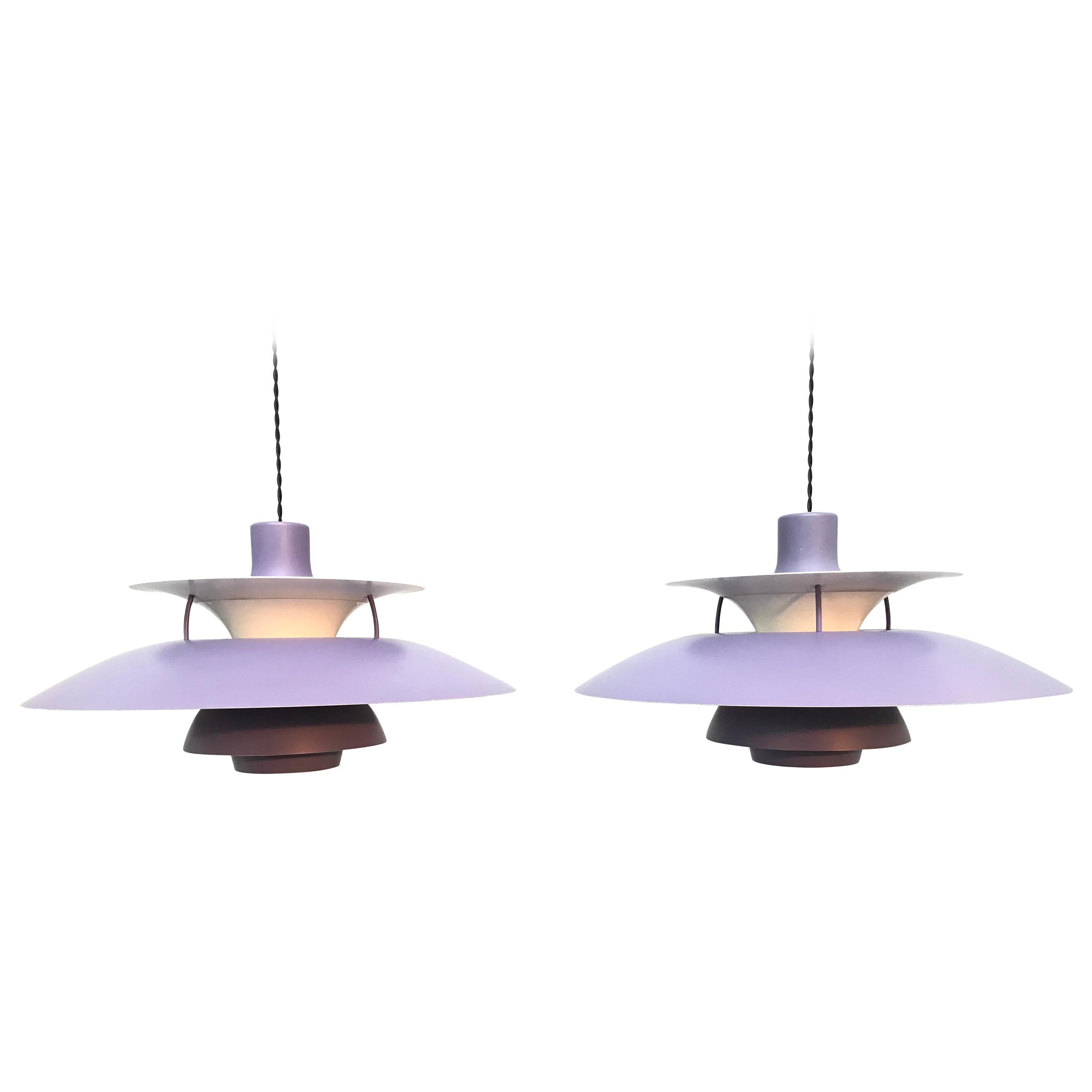 Iconic Vintage Poul Henningsen PH 5 Chandelier Pendant Lamps from the 1960s