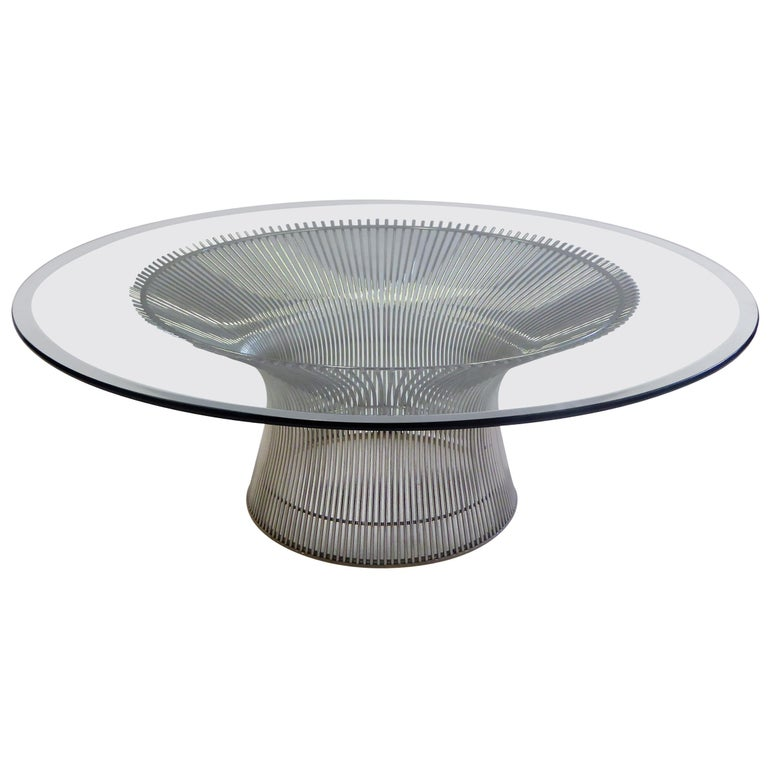 Iconic Warren Platner Coffee Table for Knoll For Sale
