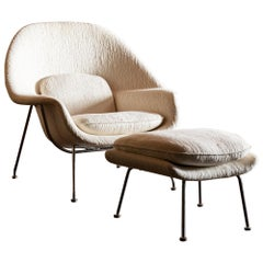 Iconic Womb Chair and Ottoman by Eero Saarinen for Knoll, United States, 1960s