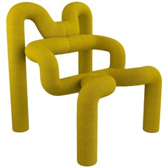 Iconic Yellow Armchair by Terje Ekstrom, Norway, 1980s