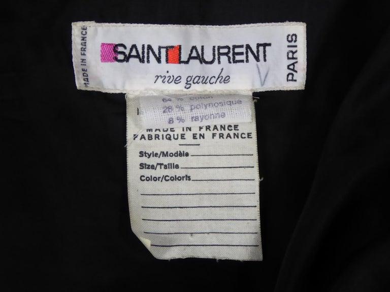 Circa 1970  France  Large silk black velvet