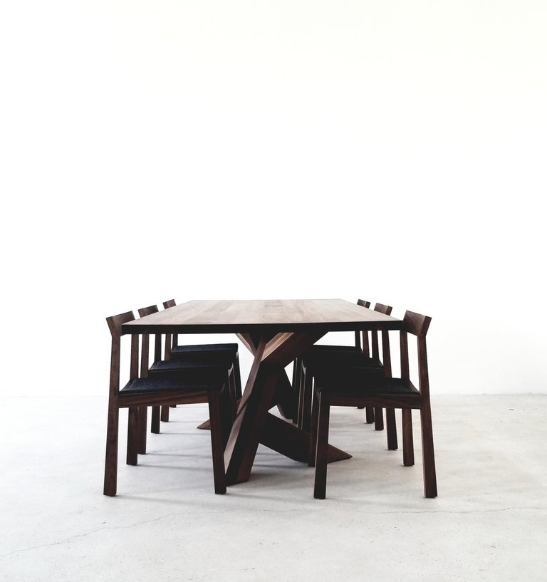 Iconoclast Modern Hardwood Dining Table by Izm In New Condition For Sale In Edmonton, Alberta