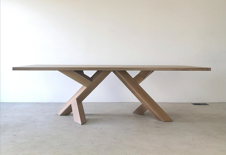 Hand-Crafted Iconoclast Modern Hardwood Dining Table by Izm Design For Sale