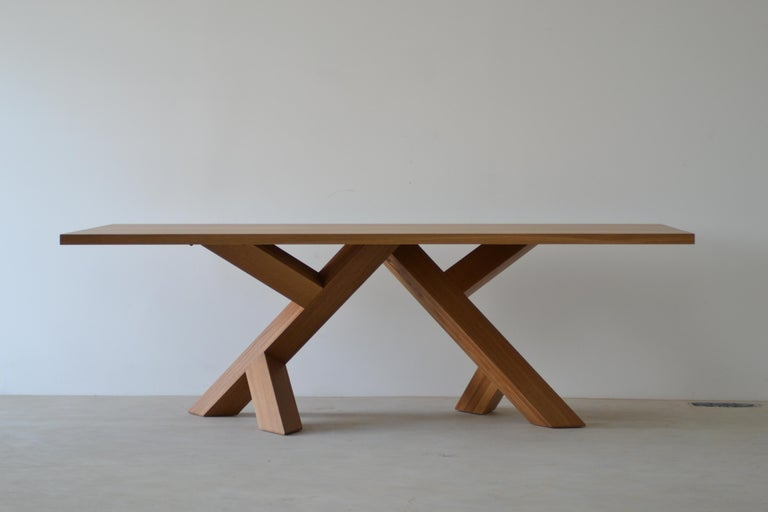 Contemporary Iconoclast Modern Hardwood Dining Table by Izm Design For Sale