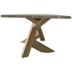 Iconoclast Modern Hardwood Dining Table by Izm Design
