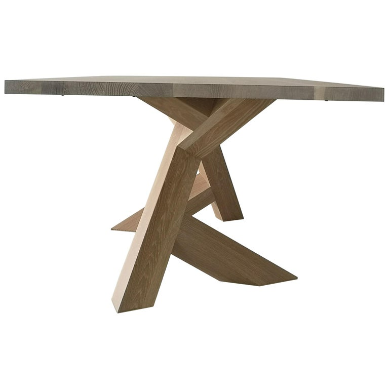 Iconoclast Modern Hardwood Dining Table by Izm Design For Sale