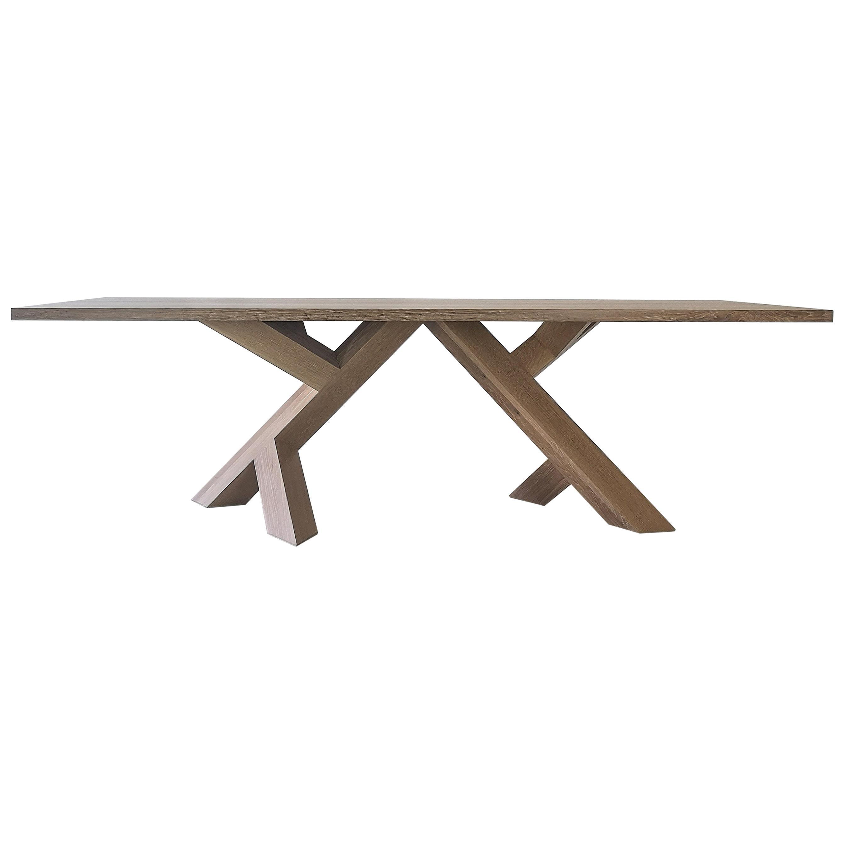 Iconoclast Modern Hardwood Dining Table by Izm Design