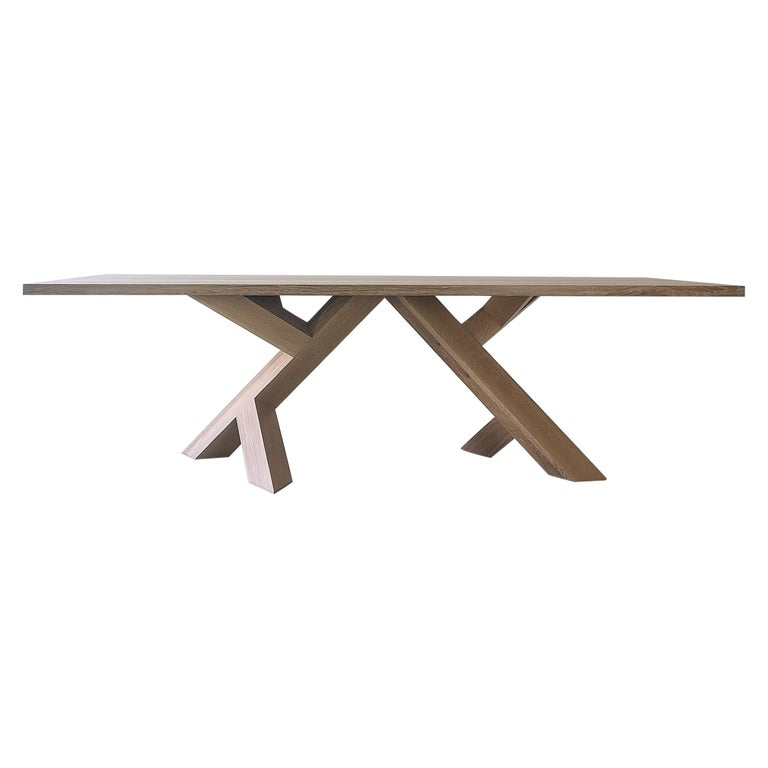 Iconoclast Modern Hardwood Dining Table by Izm For Sale