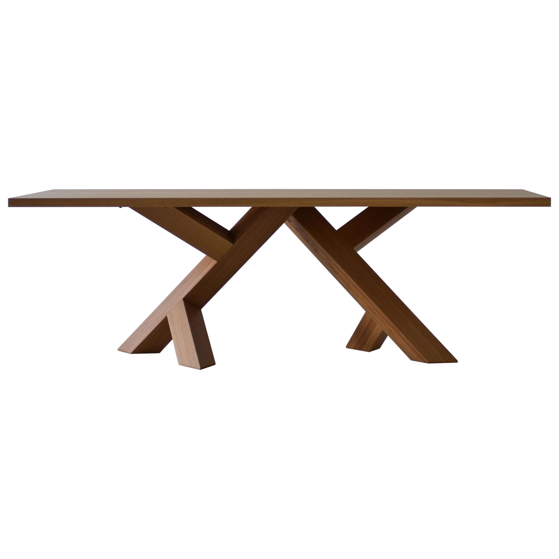 Iconoclast Modern Hardwood Dining Table by Izm