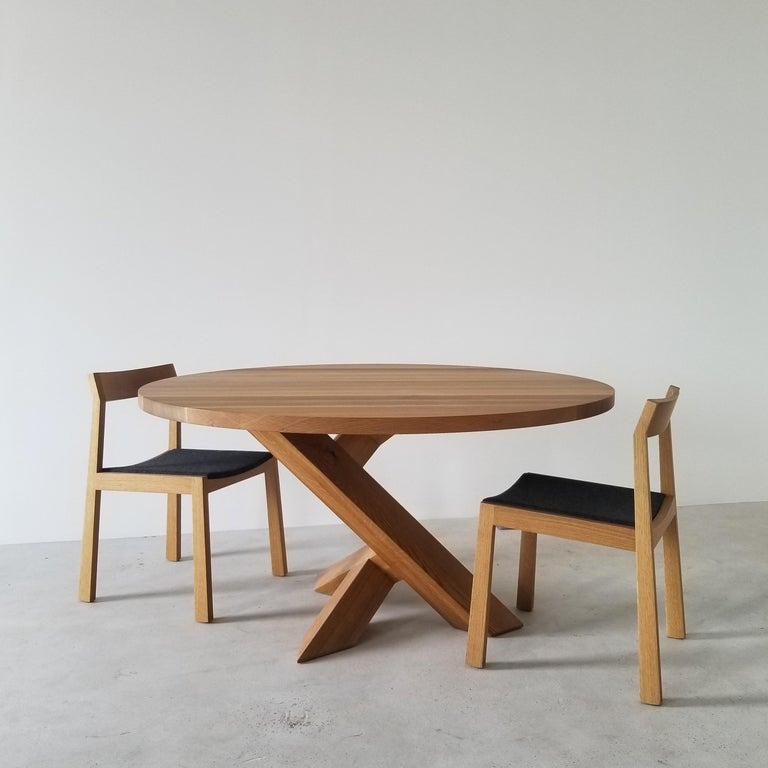 Canadian Iconoclast Solid Wood Pedestal Dining Table by Izm Design For Sale