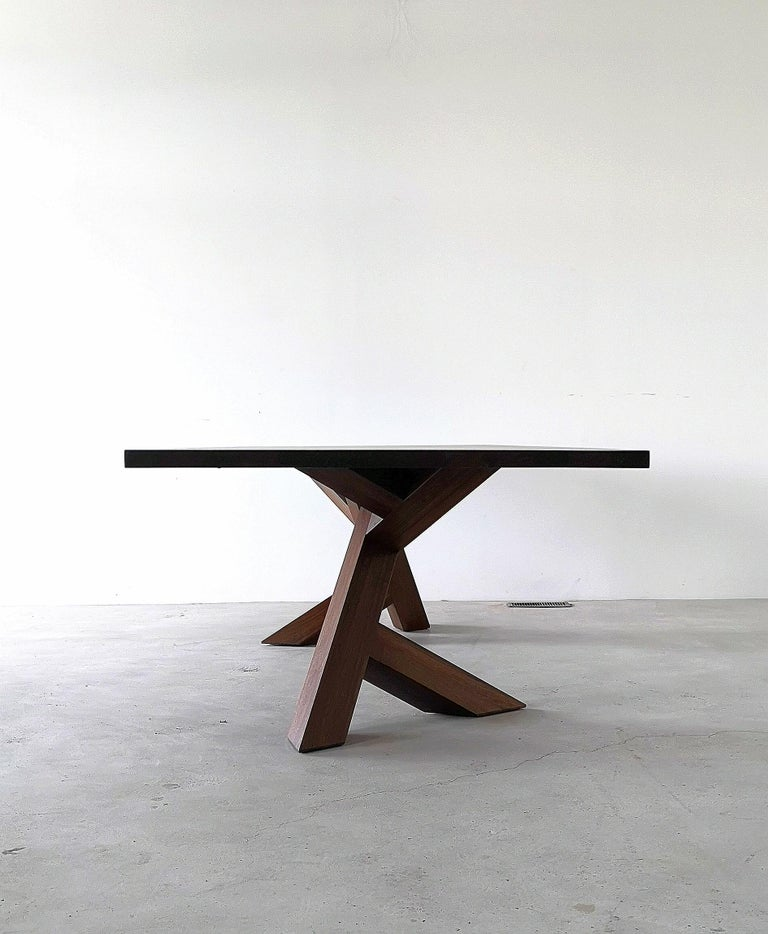 Iconoclast Solid Wood Pedestal Dining Table by Izm Design In New Condition For Sale In Edmonton, Alberta