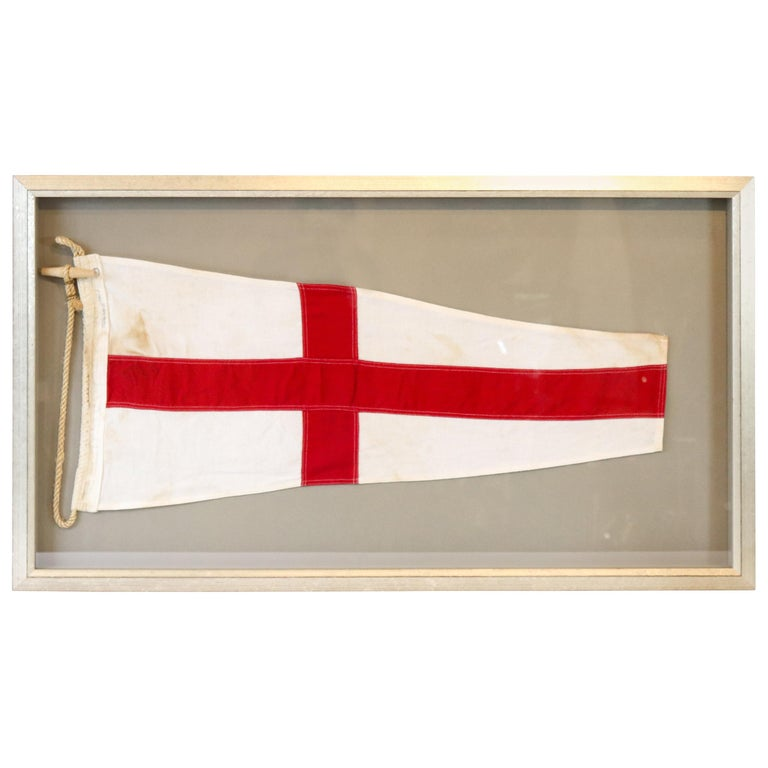 ICS Flag in Shadowbox Frame For Sale