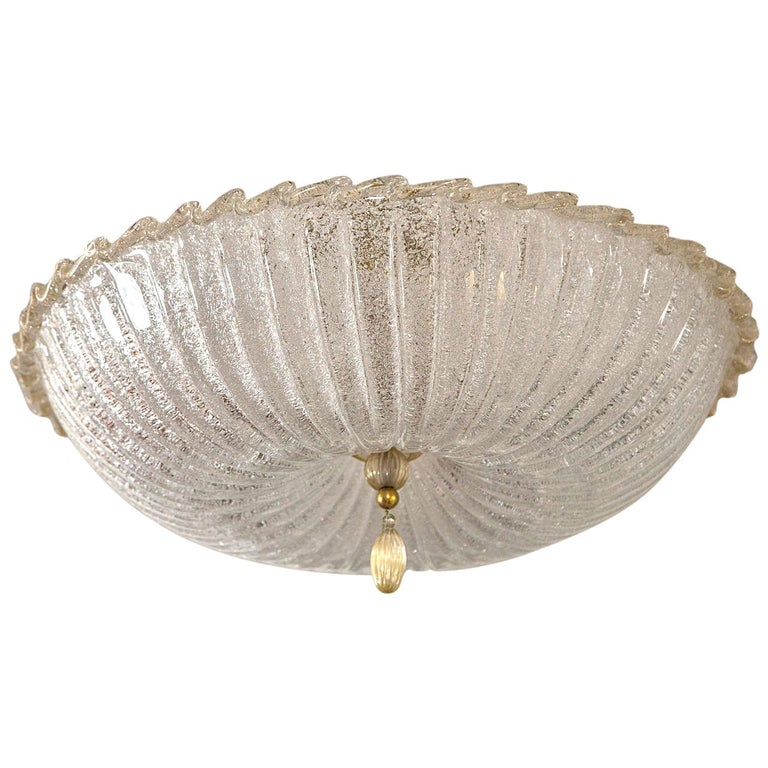 Icy Murano Ceiling Fixtures For Sale