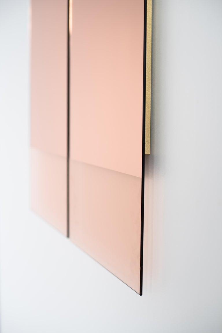 American Rose Gold Rectangular Mirror - Contemporary IDA Mirror No. 4 by Ben & Aja Blanc For Sale