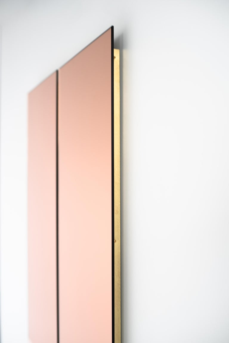 Rose Gold Rectangular Mirror - Contemporary IDA Mirror No. 4 by Ben & Aja Blanc In New Condition For Sale In Rumford, RI