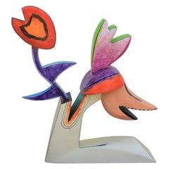 Short Colorful Wooden Maquette Sculpture