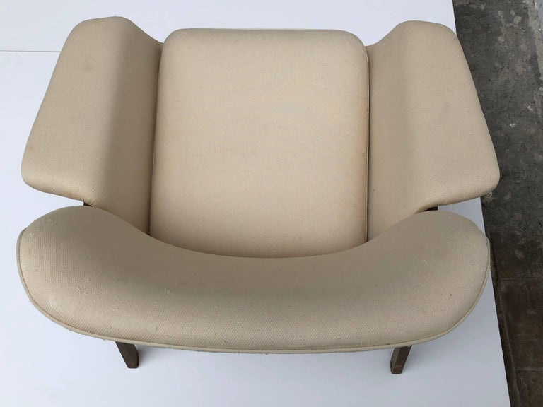 Pair of lounge chairs by  Gianfranco Frattini , 1956,  choose your own fabric. For Sale 5