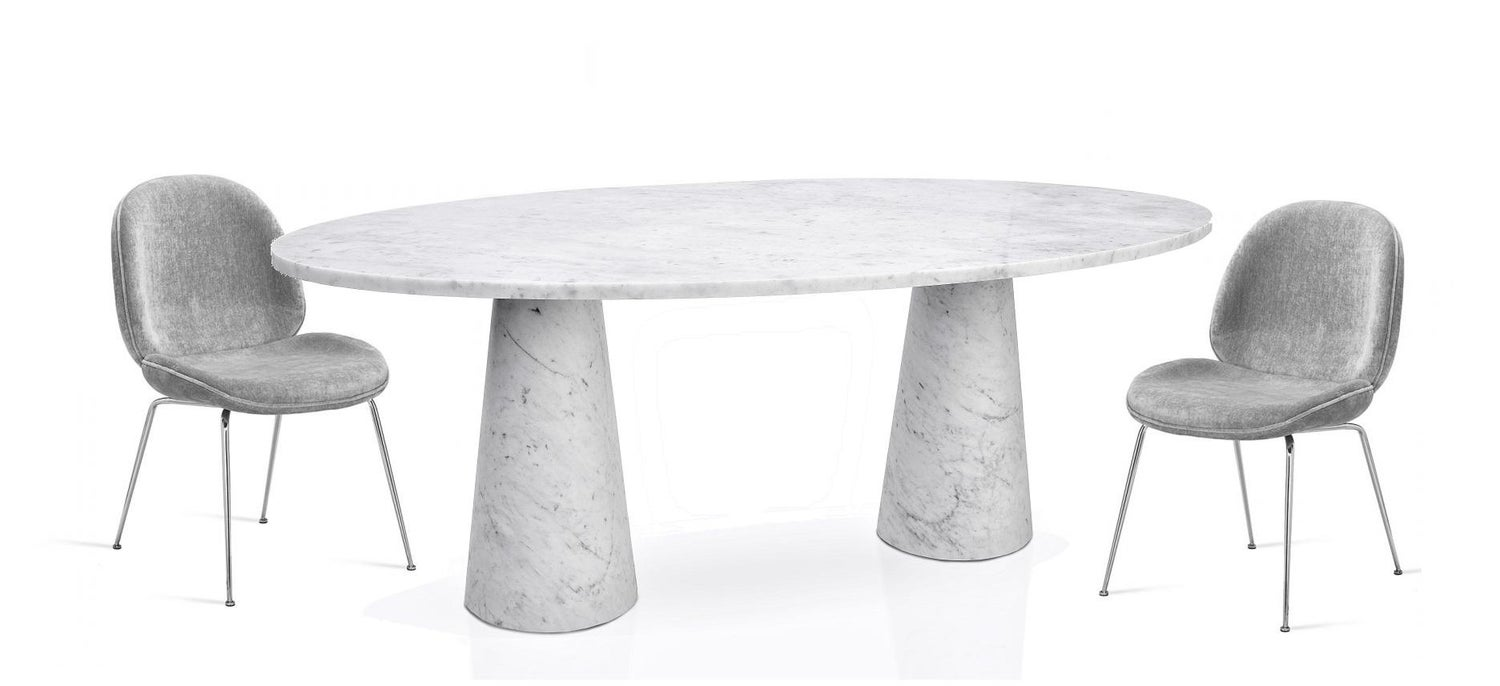 Idee Dining Table Contemporary Oval Marble Table By Christophe Pillet For Sale At 1stdibs