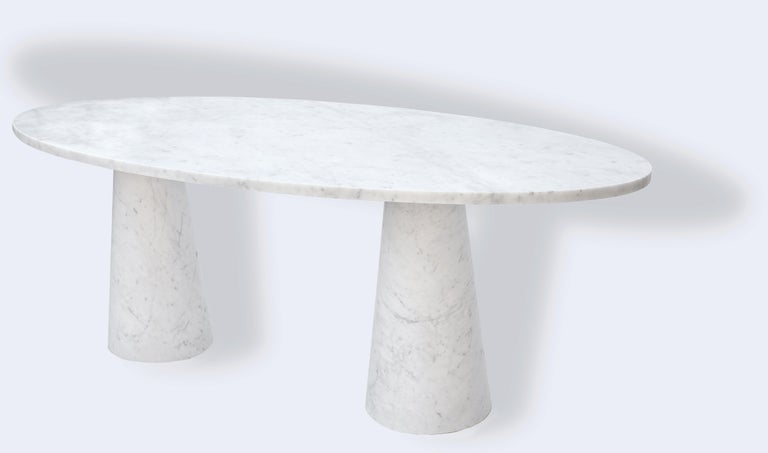 Modern Idee Dining Table, Contemporary Oval Marble Table by Christophe Pillet For Sale